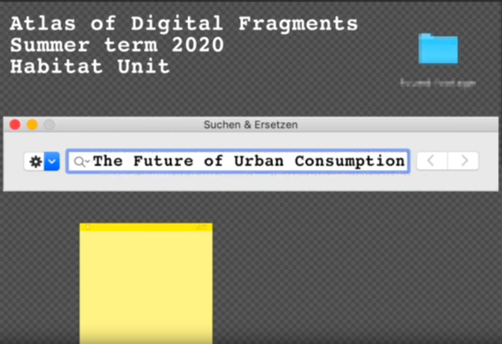 The Future of Urban Consumption